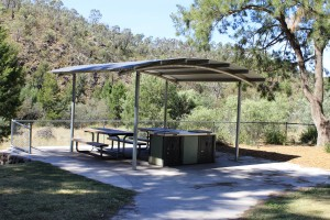BBQ picnic shelter at Casuarina Sands