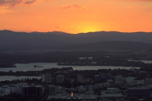 Canberra at Sunset Jan 25th 2014