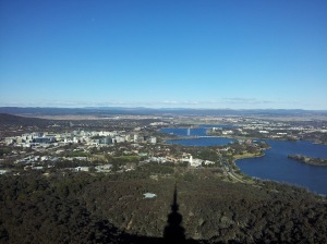 Canberra City areas (Taken from observation deck Tesltra Tower)