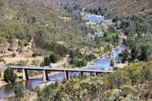 Cotter single lane bridge over Murrumbidgee River