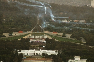 Roulettes over Parliament House Aust Day Eve (2014) d