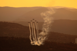 Rouletts over Canberra Aust Day Eve 2014