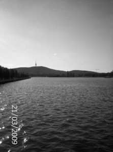 Telstra Tower taken from Lake Burley Griffin