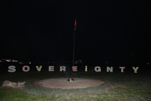 My artistic touch to the Australian Indigenous Sovereignty sign.
