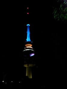Telstra Tower at night (graphic 2)