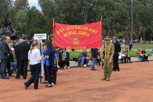 Royal Australian Army Medical Corps banner (AWM 2014)
