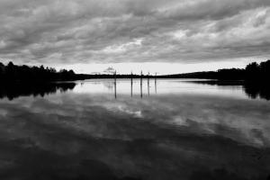 My black & white edition of Lake Ginninderra.